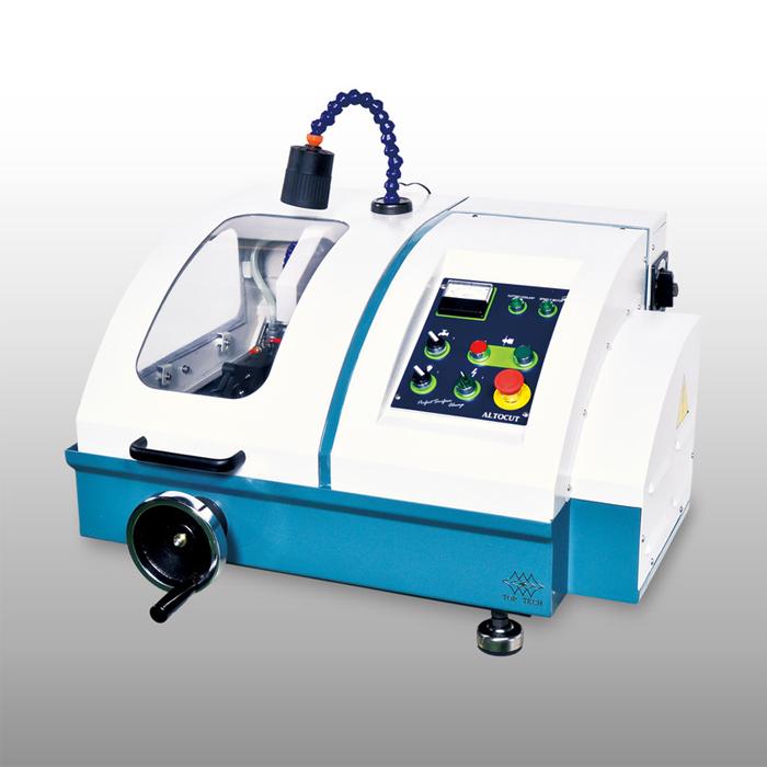 Máy cắt mẫu kim loại tự động hoặc thủ công, độ chính xác cao,đa năng,mạnh mẽ, bền bỉ. Vận hành đơn giản, an toàn. Giá trị đầu tư thấp. Sản xuất tại Đài Loan